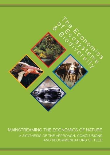 Mainstreaming the Economics of Nature - Rio+20