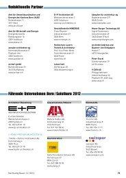 Führende Unternehmen Bern / Solothurn - Gerber Media