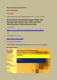 Woerterbuch Kfz-Mechatronik + deutsch-englisch-franzoesisch Uebersetzer Automatisierungstechnik