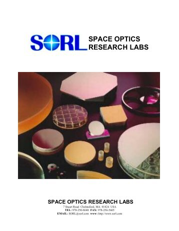 SPACE OPTICS RESEARCH LABS