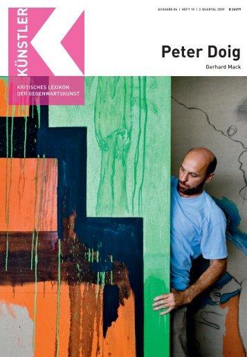 Peter Doig - Weltkunst