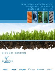 product catalog - Infiltrator Systems Inc.