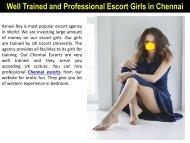 Well Trained and Professional Escort Girls in Chennai