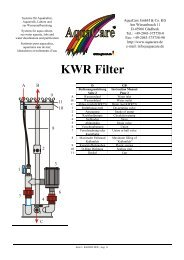 KWR Filter - AquaCare GmbH & Co. KG