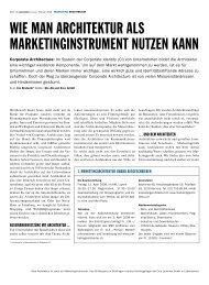 Wie man Architektur als Marketinginstrument nutzen