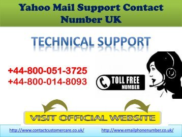 Yahoo  Email Support Contact Number UK
