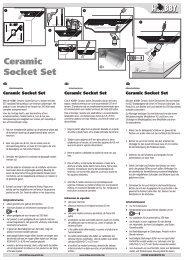Gebrauchsanweisung / Ceramic Socket Set - Dohse Aquaristik KG
