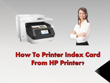 How To Printer Index Card From HP Printer