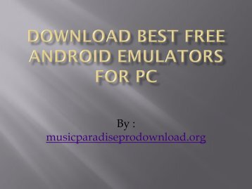 Download Best free Android Emulators for PC