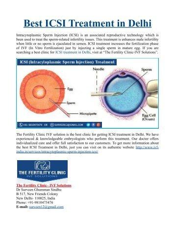 Best ICSI Treatment in Delhi