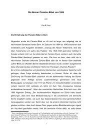 Die Berner Piscator-Bibel von 1684 - Sepher-Verlag Herborn