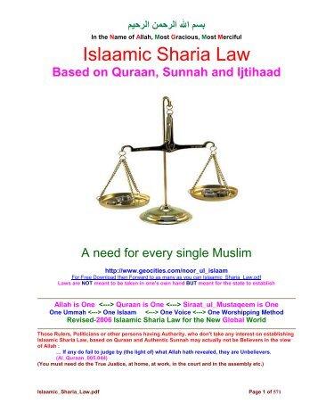 Islamic Sharia law