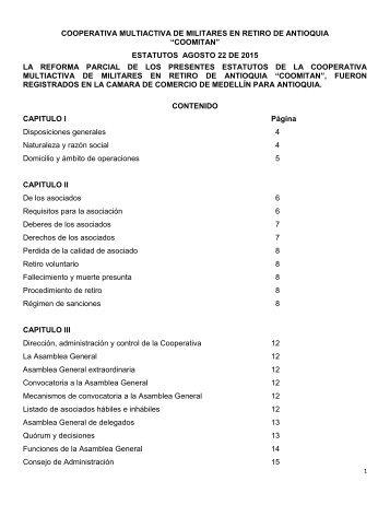 Estatutos Coomitan 2015