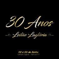 CATALOGO  2 Leilão 30 anos Lagloria - FINAL