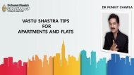 VASTU SHASTRA TIPS FOR APARTMENTS AND FLATS