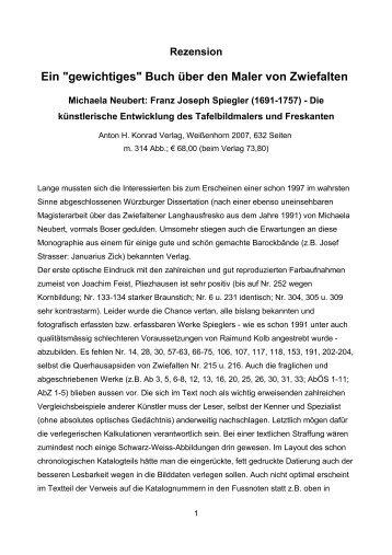 """Rezension Ein """"gewichtiges"""" Buch über den Maler von Zwiefalten ..."""