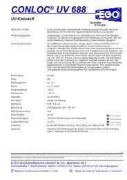 CONLOC® UV 688 - EGO - Dichtstoffwerke