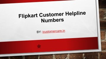 Flipkart Customer Helpline Numbers