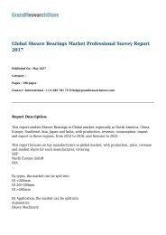 Global Sheave Bearings Market Professional Survey Report 2017