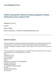 Global Construction Material Testing Equipments Market Professional Survey Report 2017