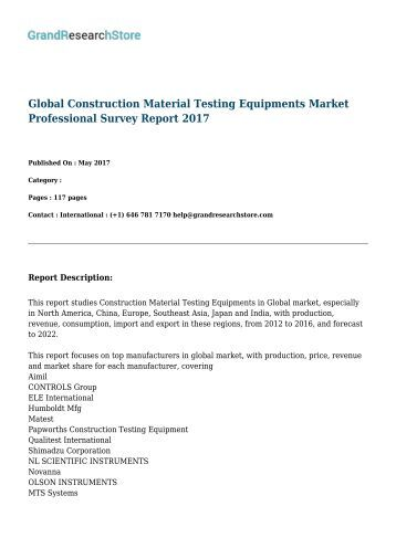 Report Of Materials And Equipment Acceptance Division