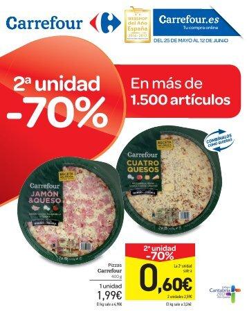 Catálogo Carrefour -70% 2 unidad en más de 1.500 artículos del 25 de Mayo al 12 de Junio 2017