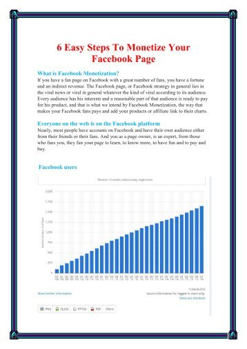 How to monetize your Facebook's page