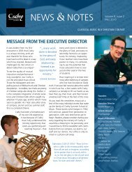 Csehy News & Notes (Volume 8, Issue 2 - Fall 2015)