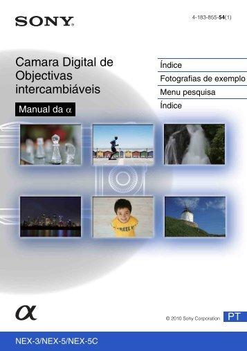 Sony NEX-5K - NEX-5K Guide pratique Portugais
