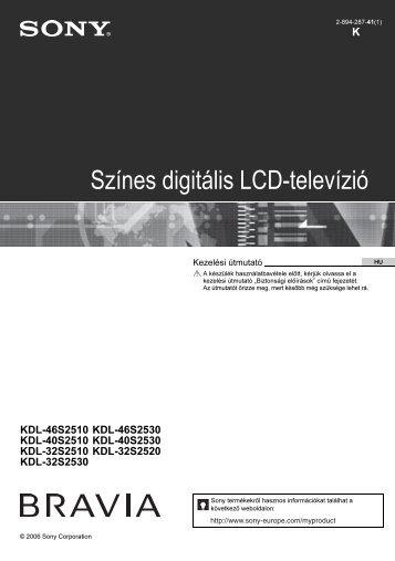 Sony KDL-46S2510 - KDL-46S2510 Mode d'emploi Hongrois