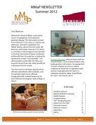 MMaP Newsletter Summer 2012 Page 1 Memorial's School of Music ...