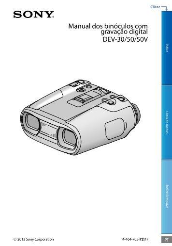 Sony DEV-50V - DEV-50V Guide pratique Portugais