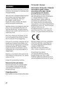 Sony HT-CT780 - HT-CT780 Consignes d'utilisation Suédois - Page 2