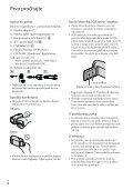 Sony HDR-CX116E - HDR-CX116E Mode d'emploi Croate - Page 4