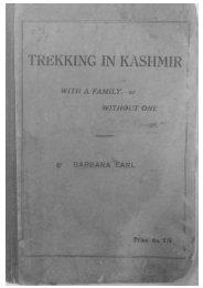Trekking in Kashmir by Barbara Earl
