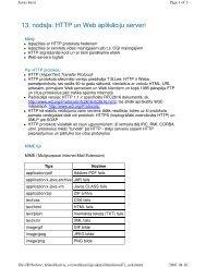 13. nodaa: HTTP un Web aplikāciju serveri