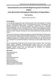 Erosionsschutz und schnelle Begrünung durch ... - Geotex GmbH