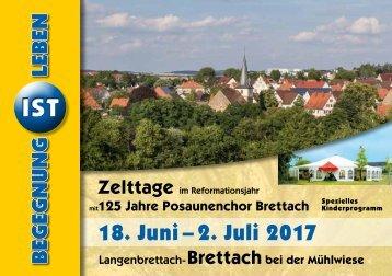 Programm Zelttage Brettach 2017