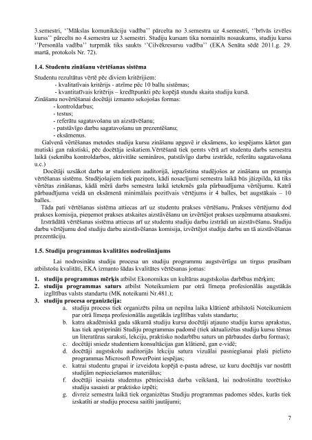 kultūras vadība (42345) - Ekonomikas un Kultūras augstskola
