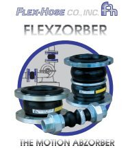 FLEXZORBER Rubber Connectors and ... - Flex-Hose Co Inc