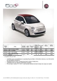 Apskatīt cenas un aprīkojumu - Fiat