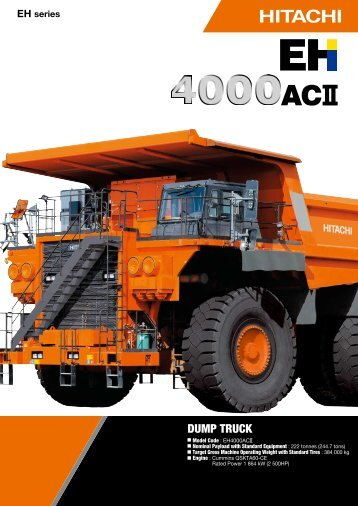 EH series - Hitachi Construction Machinery