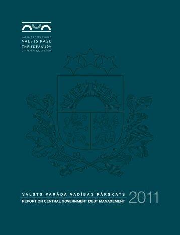 2011.gada parāda vadības pārskats - Valsts kase