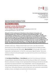 MEDIENINFORMATION BLICKWECHSEL - Tiroler Landesmuseen