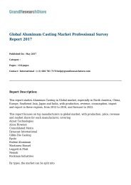 Global Aluminum Casting Market Research Report 2016