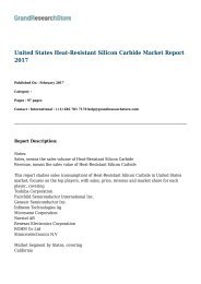 United States Heat-Resistant Silicon Carbide Market Report 2017