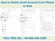 How to Delete Email Account from iPhone or iPad Call +44-800-046-5289