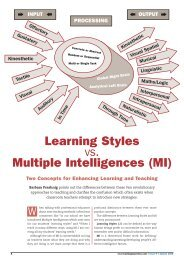 Learning Styles vs. Multiple Intelligences (MI) - Creative Learning ...