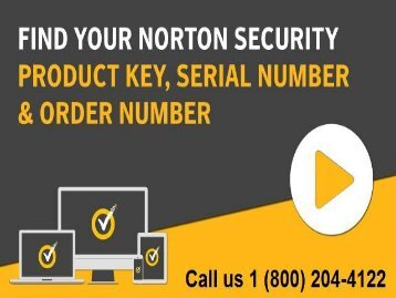 1 (800) 204-4122 Norton Product Key Support Number