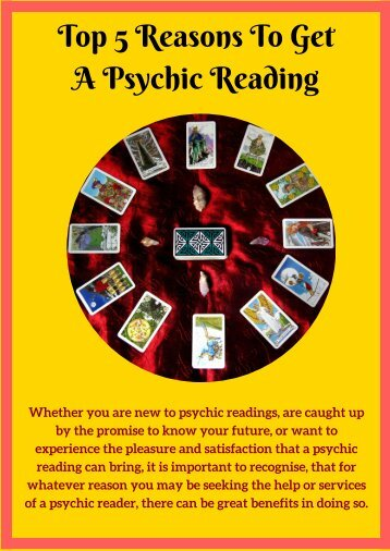 Top 5 Reasons To Get A Psychic Reading